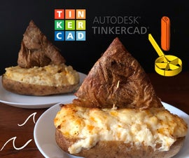 Twice Baked Potato Boats Using 3D Printed Scoop