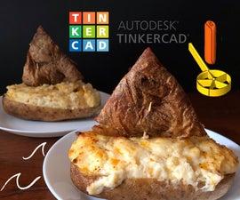 两次烤土豆船使用三维打印勺