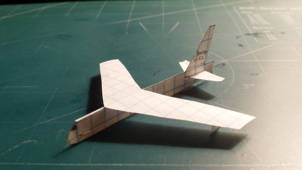 How to Make the Boeing B-52 Stratofortress Paper Airplane