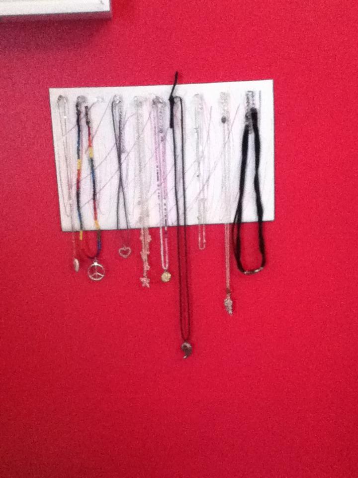 DIY necklace Holder