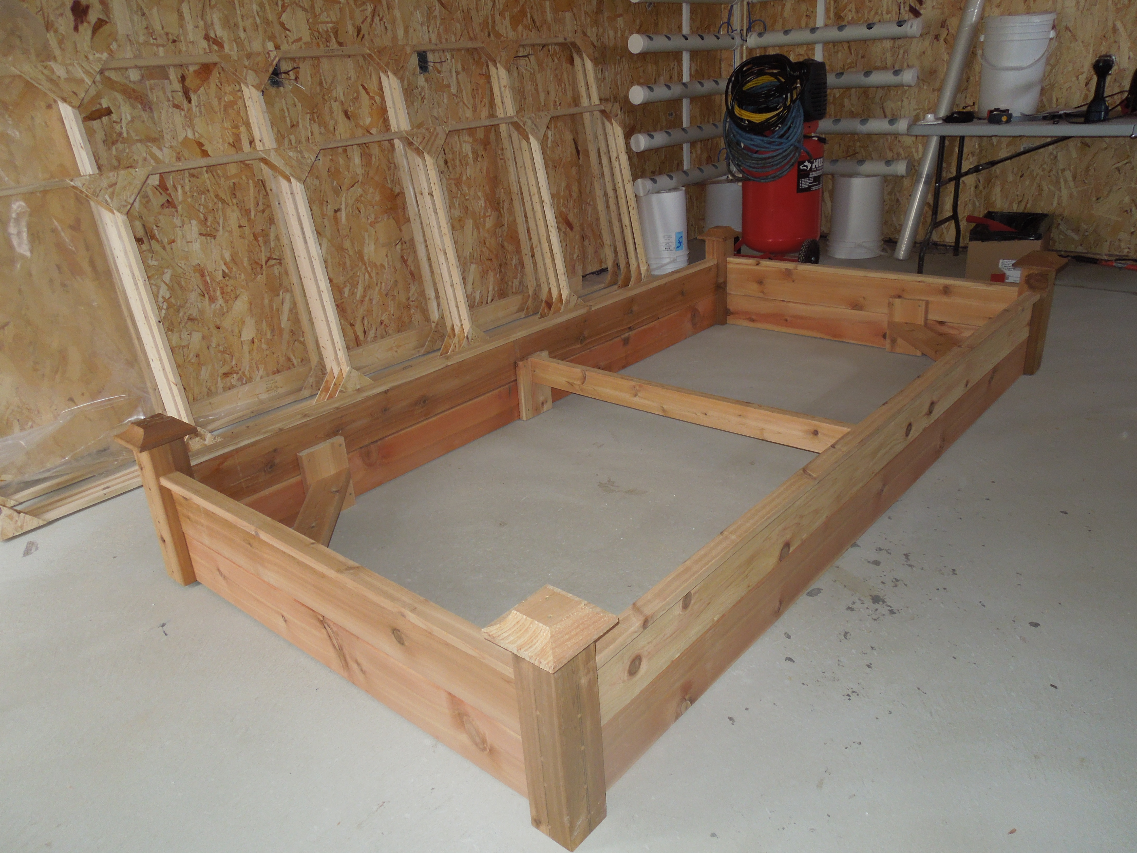"Cedar Raised Planter Beds Built for ""Square Foot Gardening"""