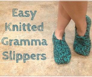 易于针织的克拉米拖鞋