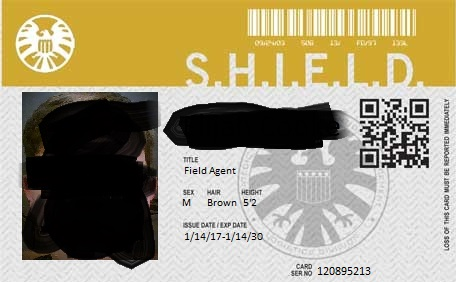 S.H.I.E.L.D. personalized I.D.