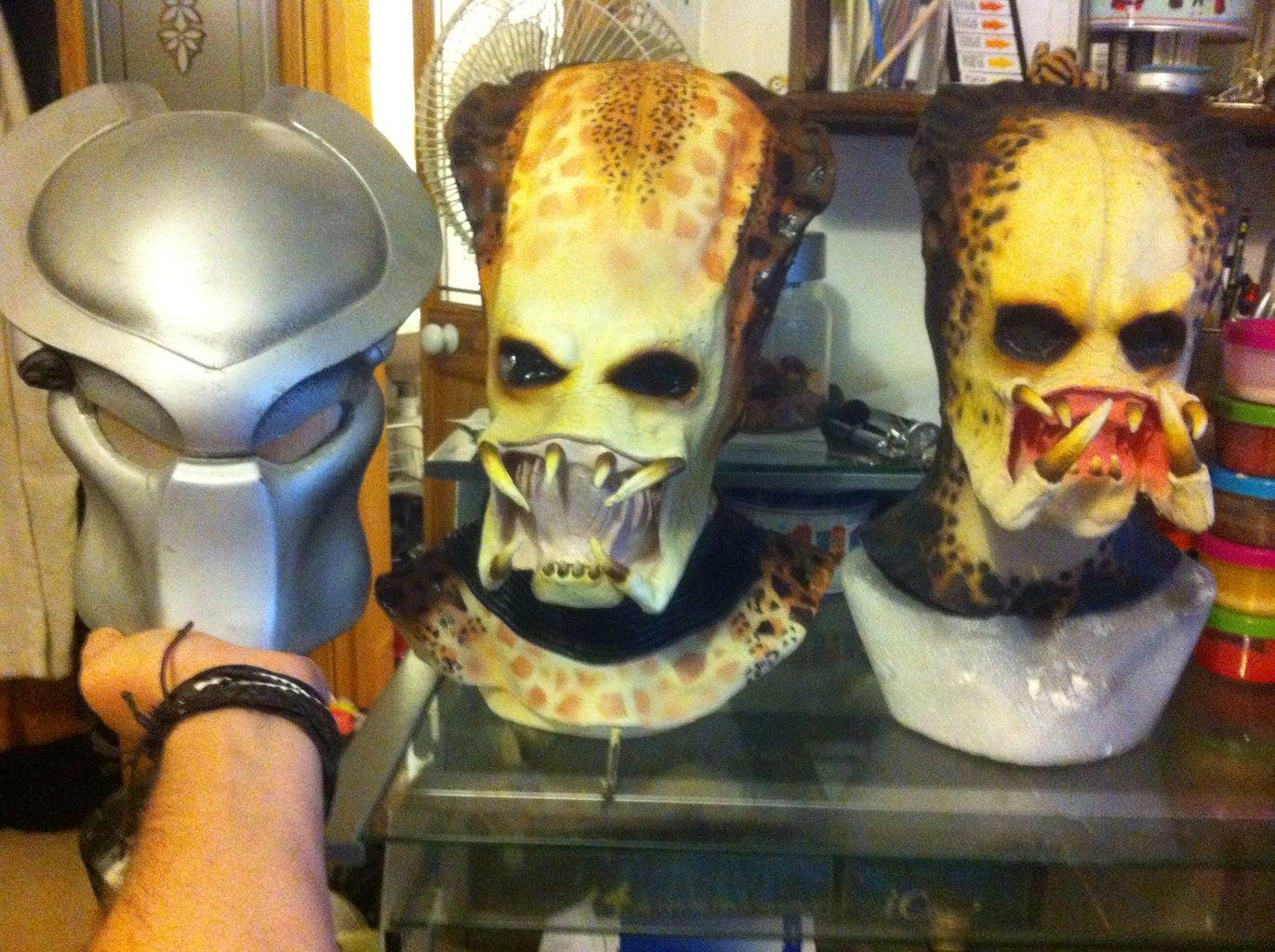 Predator Mask Mark 2 - 2 Part Plaster Mold for a Latex Mask
