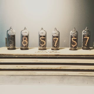 Huge Wood Nixie Clock