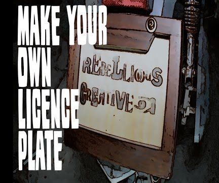 How to Make a Licence Plate