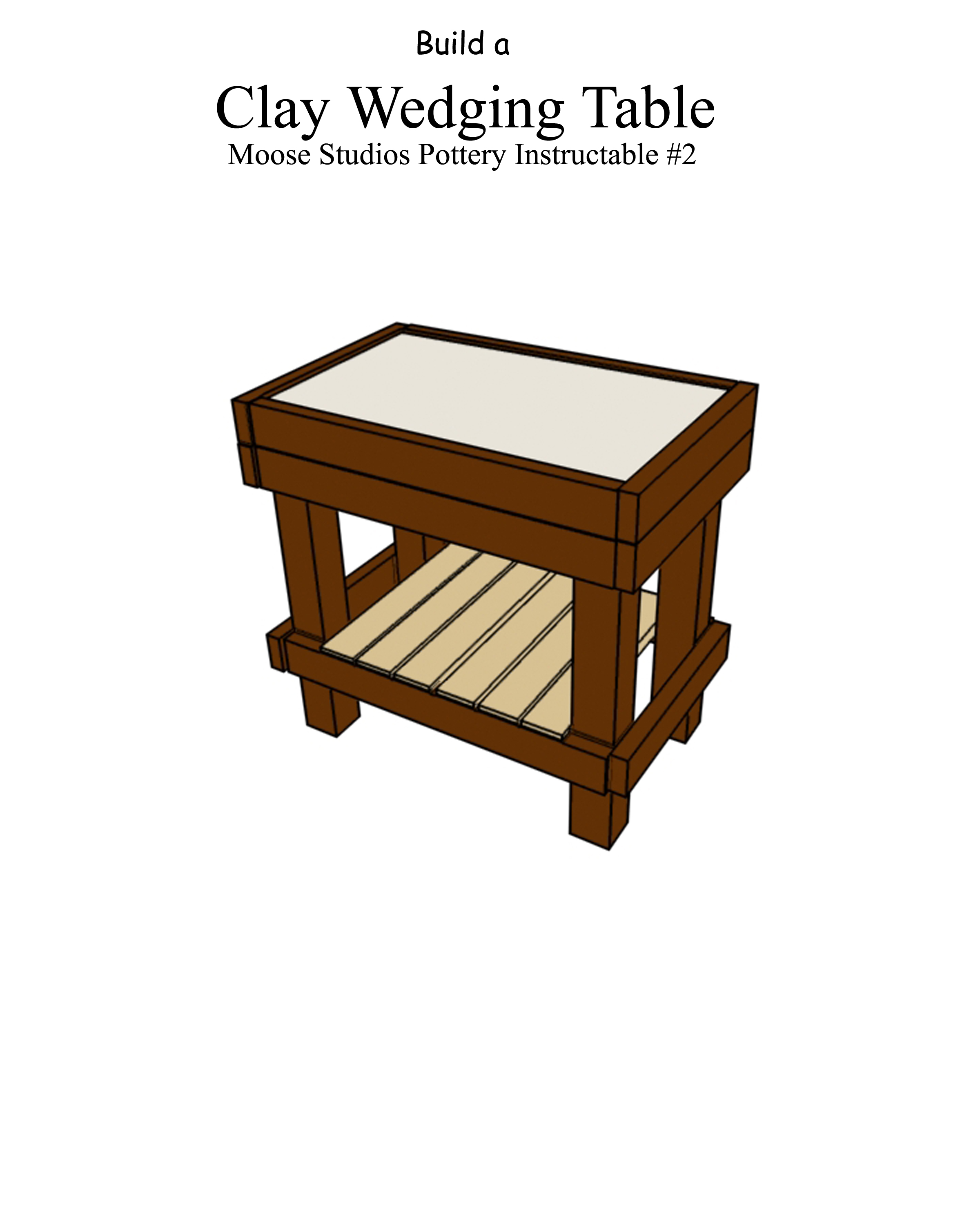 Build a Country Pottery Clay Wedging Table