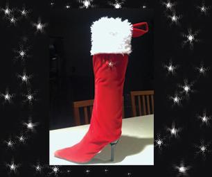 High Heel Christmas Stocking