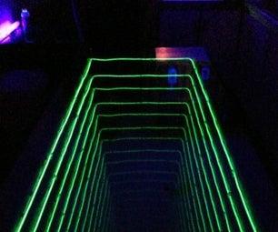 EL Wire Infinity Pong Table