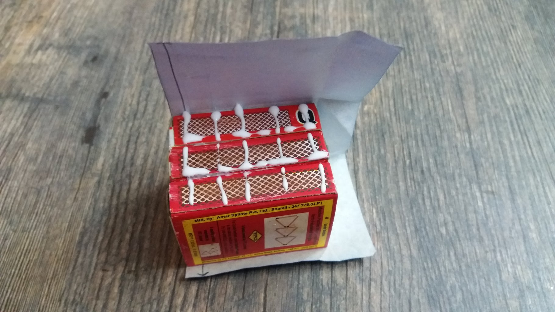 Step-3: Covering the Match Boxes With Coloured Sheets