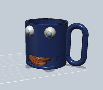 123D Cookie Monster Mug With Cookie Holder