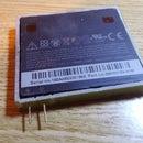 Homemade flat Li-ion battery adapter