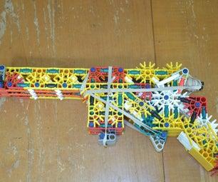 Double Barreled Mag-fed Knex Gun.