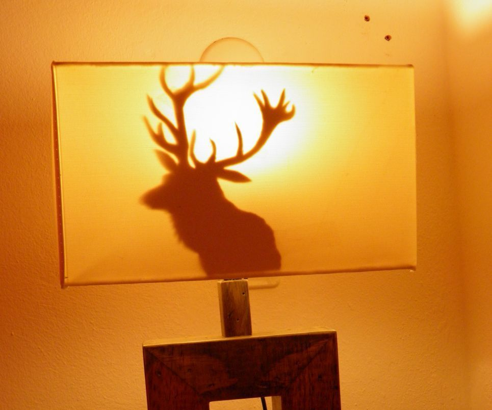 Jazz up a lamp with a deer