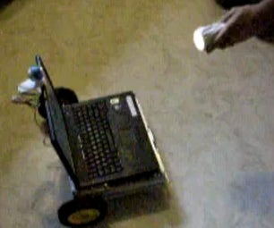 RoboRealm Controlling a Laptop PC With Wheels Attached to It