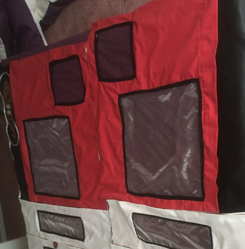 Making the Red Front Side Sections Outside