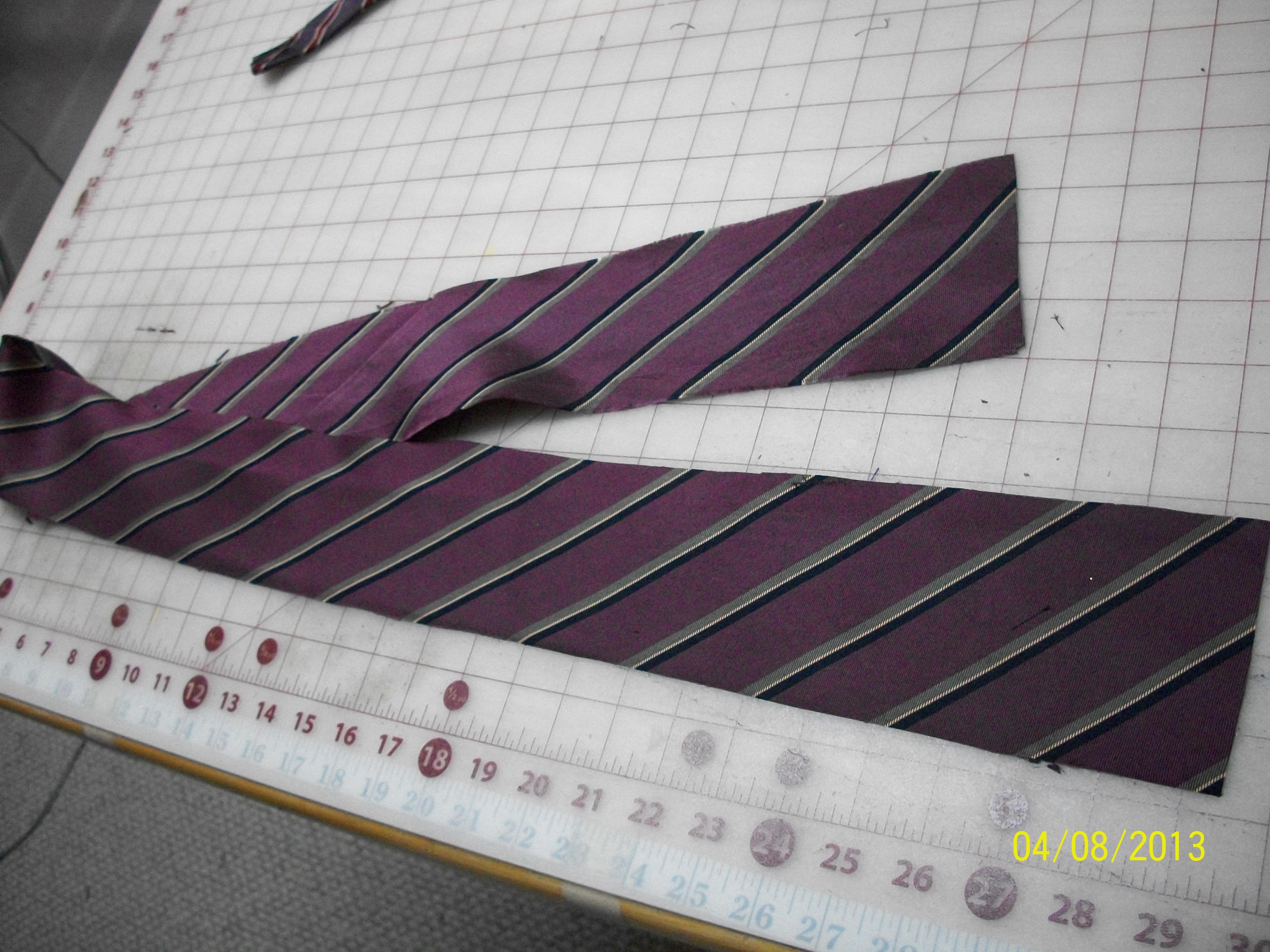 *RE-PURPOSED* - Men's Tie (into) Bias Tape - PURPLE