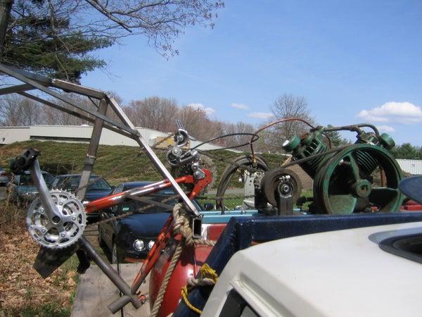 Pedal Powered Air Compressor