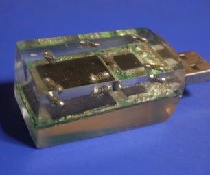 USB Casting in Transparent Resin