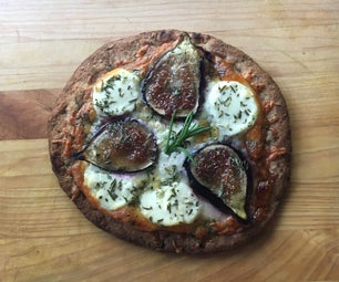 Honey & Goat Cheese Pita Pizza