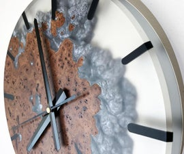 Frosted Epoxy Resin Clock