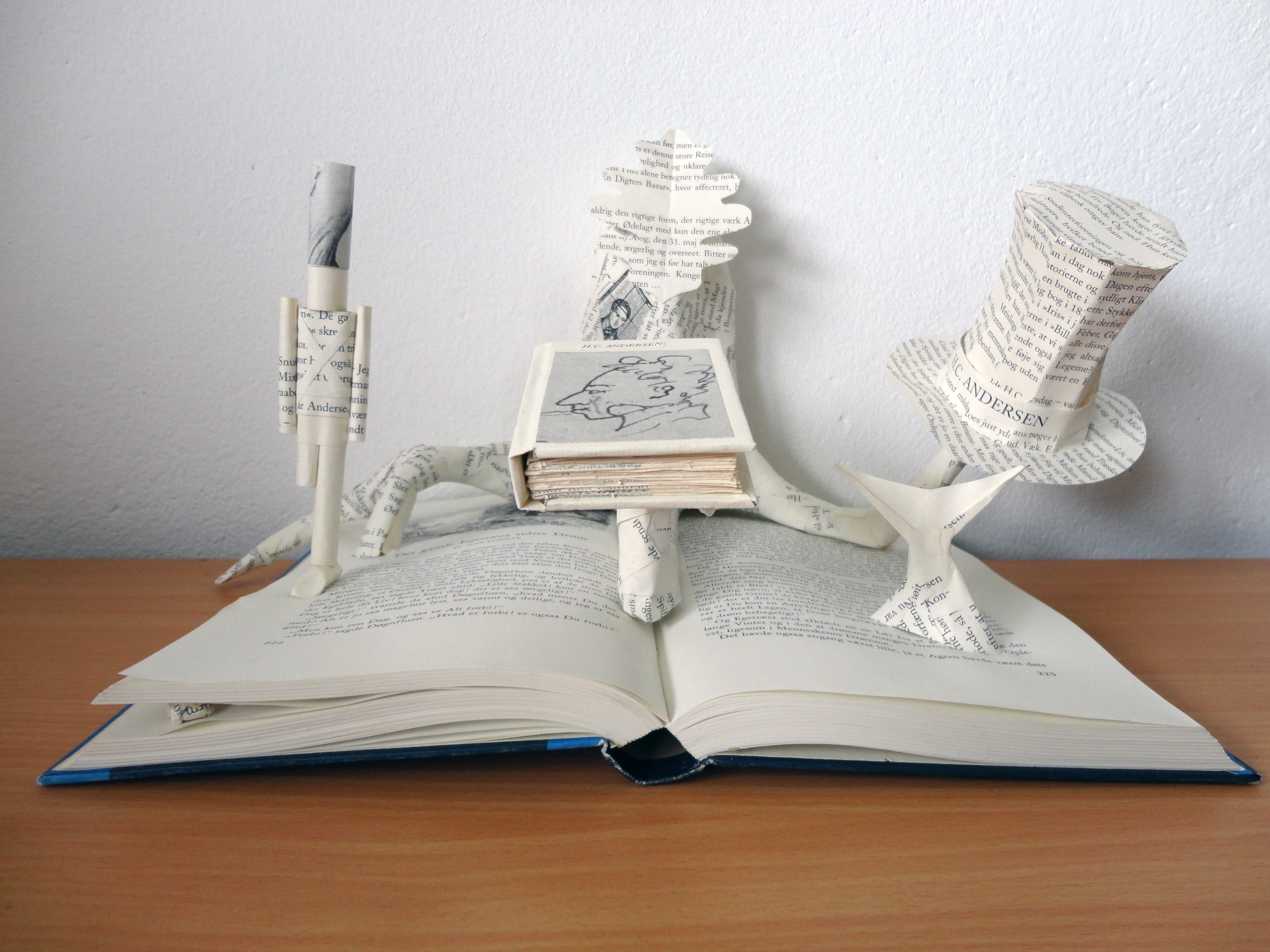 Book Sculpture: H.C. Andersen