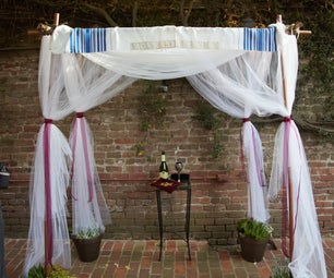 PVC Pipe and Potted Plant Chuppah Frame