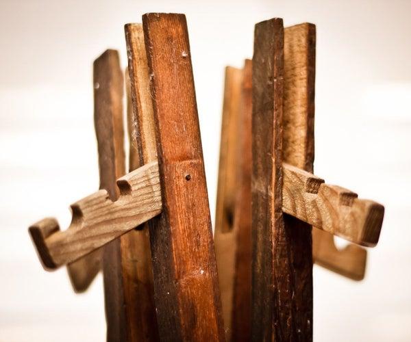 A Folding Wood Coat Rack