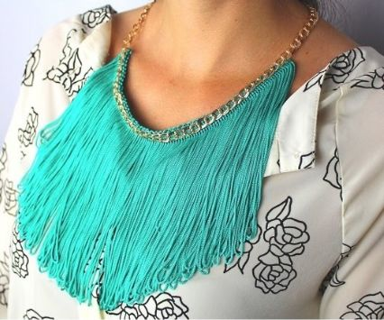 HOW TO MAKE a FRINGE  NECKLACE TUTORIAL