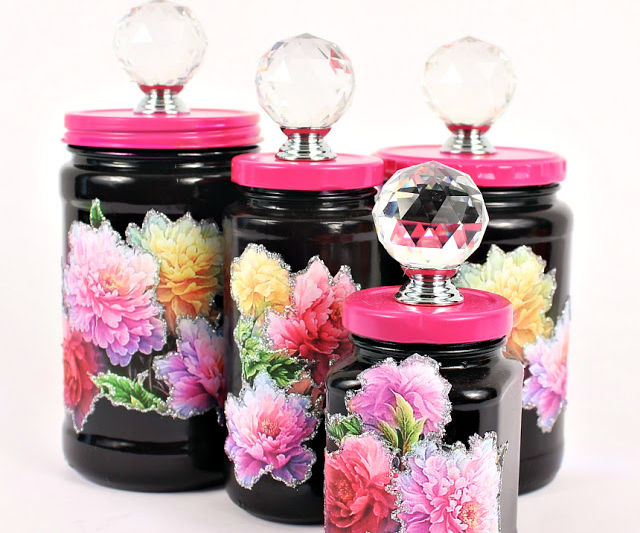 Glass Jar Makeover