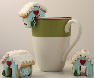Sugar Cookie House Mug Toppers