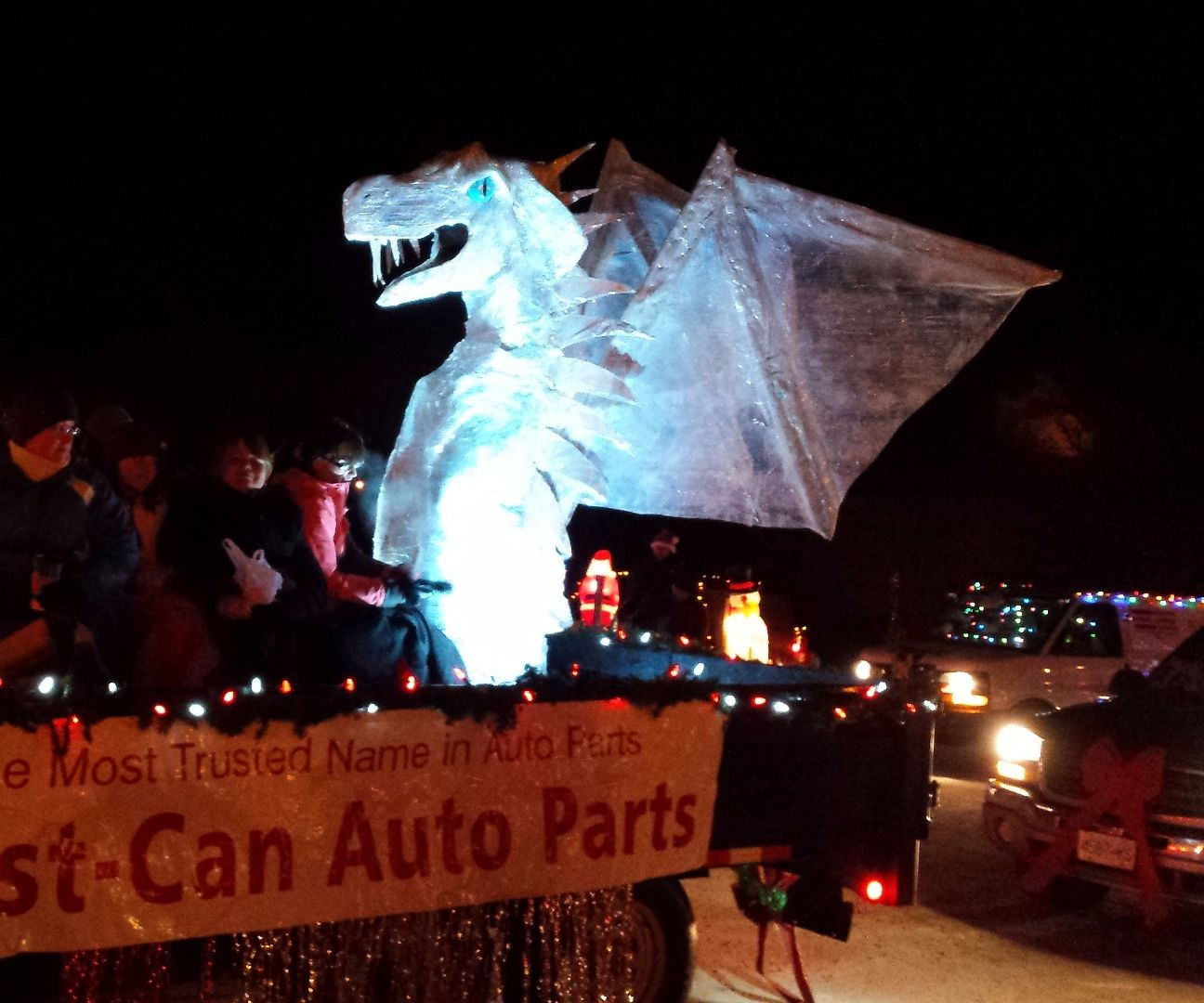 "Giant Cardboard ""Ice"" Dragon"