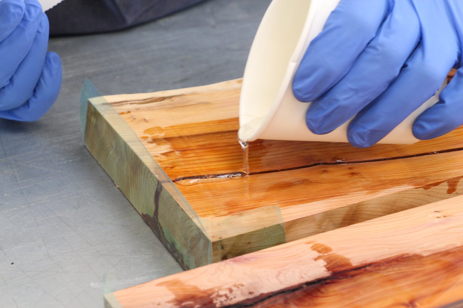 Sealing the Wood and Filling the Knots