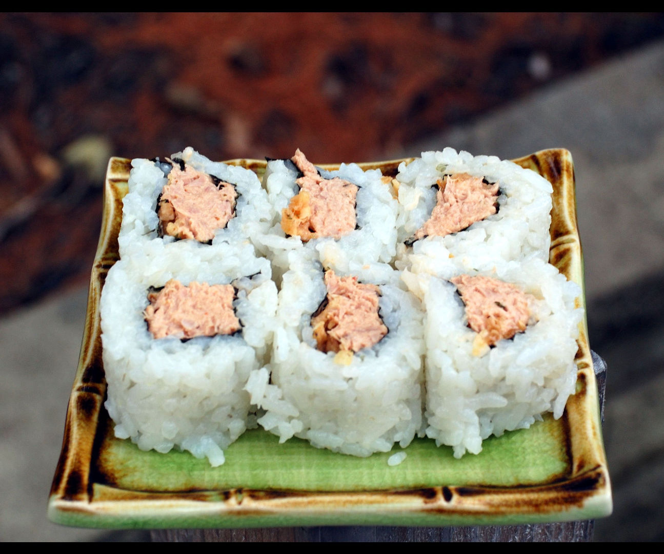 Inside Out Spicy Tuna Rolls
