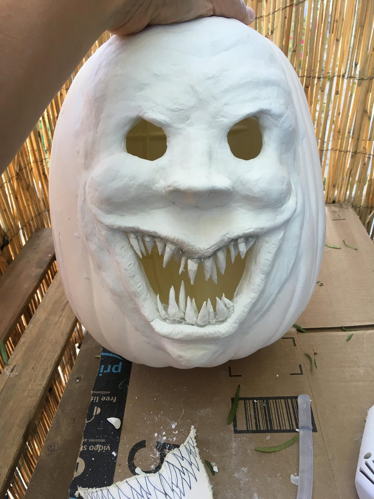 Shaping and Gluing the Teeth and Eyelids