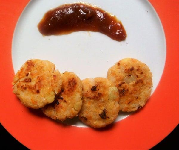 Rice Tikki (Vegetable Rice Cutlets)