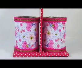A Desk Organizer Using Waste Tin Container