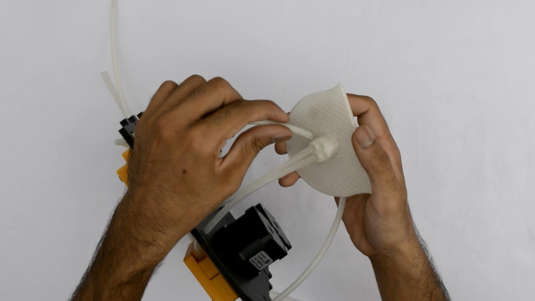 Insert the Tubes in the 3D Printed Tube Holder