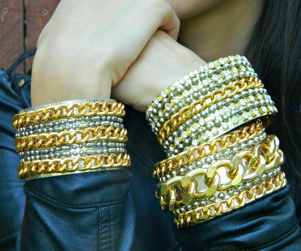 Glam Rock Chain Cuffs