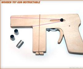 Make a Toy Wood Gun That Shoots 9mm Brass Casings