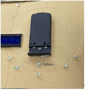 Install the LED Light on the Carton (yellow X1 White X5)