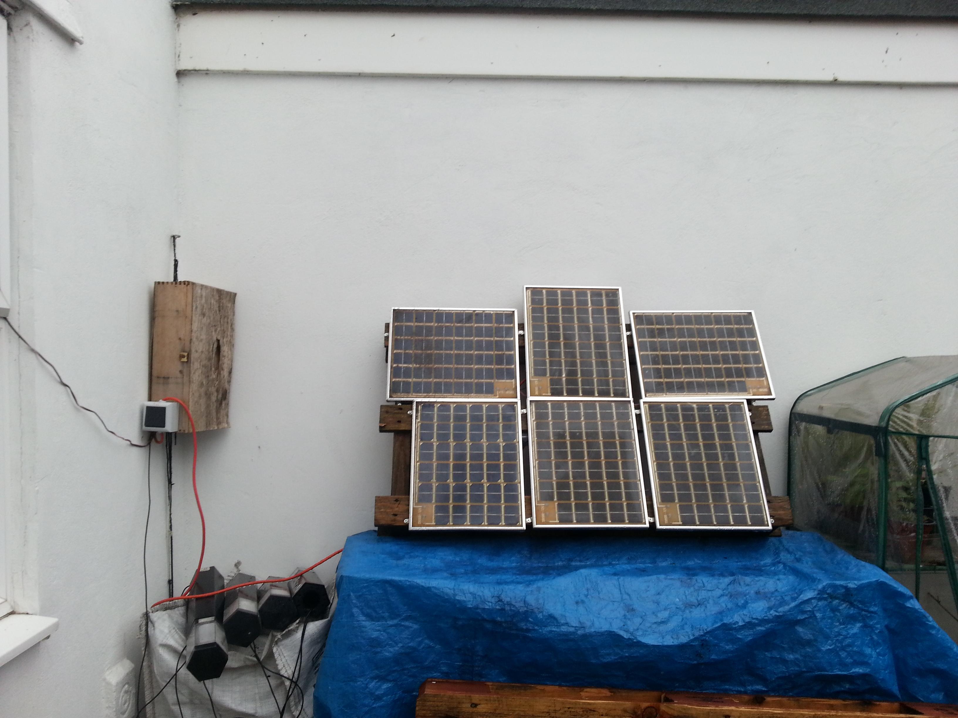 Solar power terminal