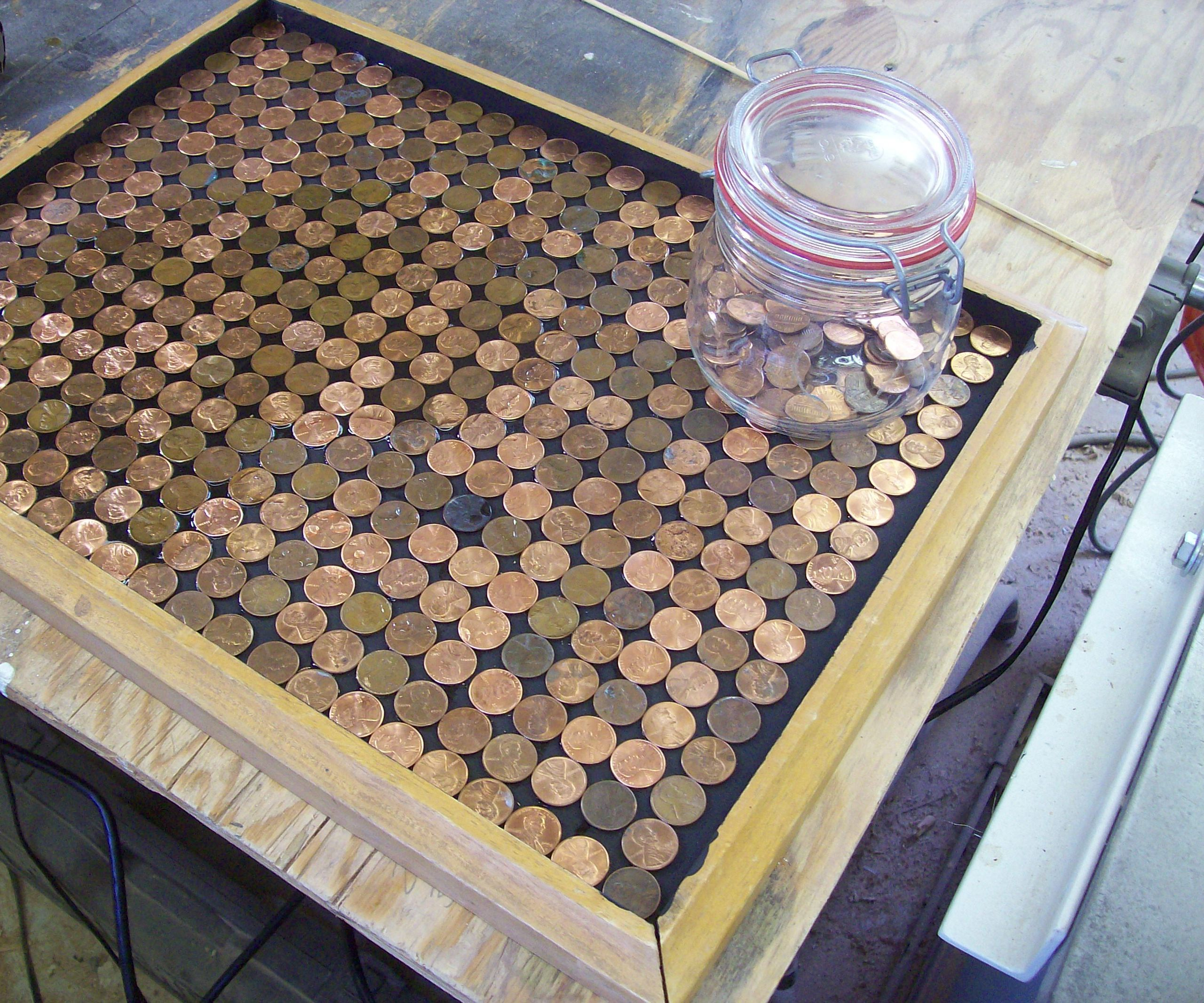 Copper Penny Serving Tray