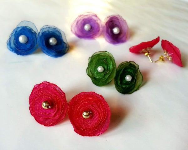 DIY Flower Stud Earrings