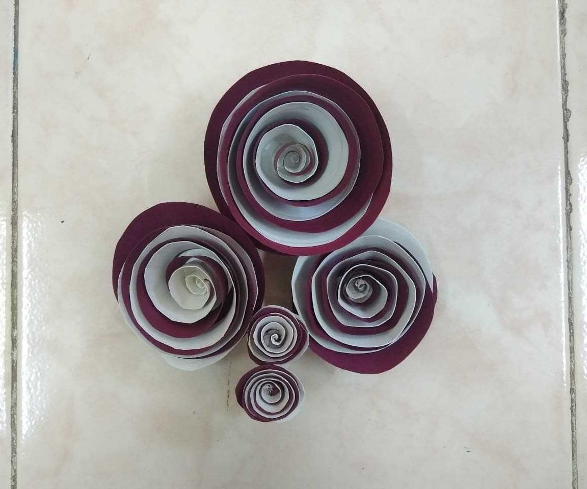 Easy DIY for Kids- Double Colored Paper Rose in Less Than 5 Minutes