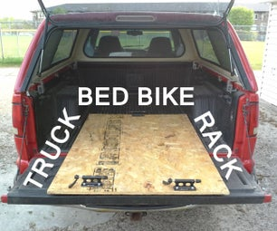 Simple & Adjustable Truck Bed Bike Rack