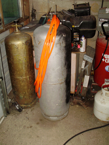 Propane Tank into Air Tank, The EASY way