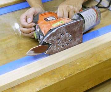 Sanding Off the Old Finish