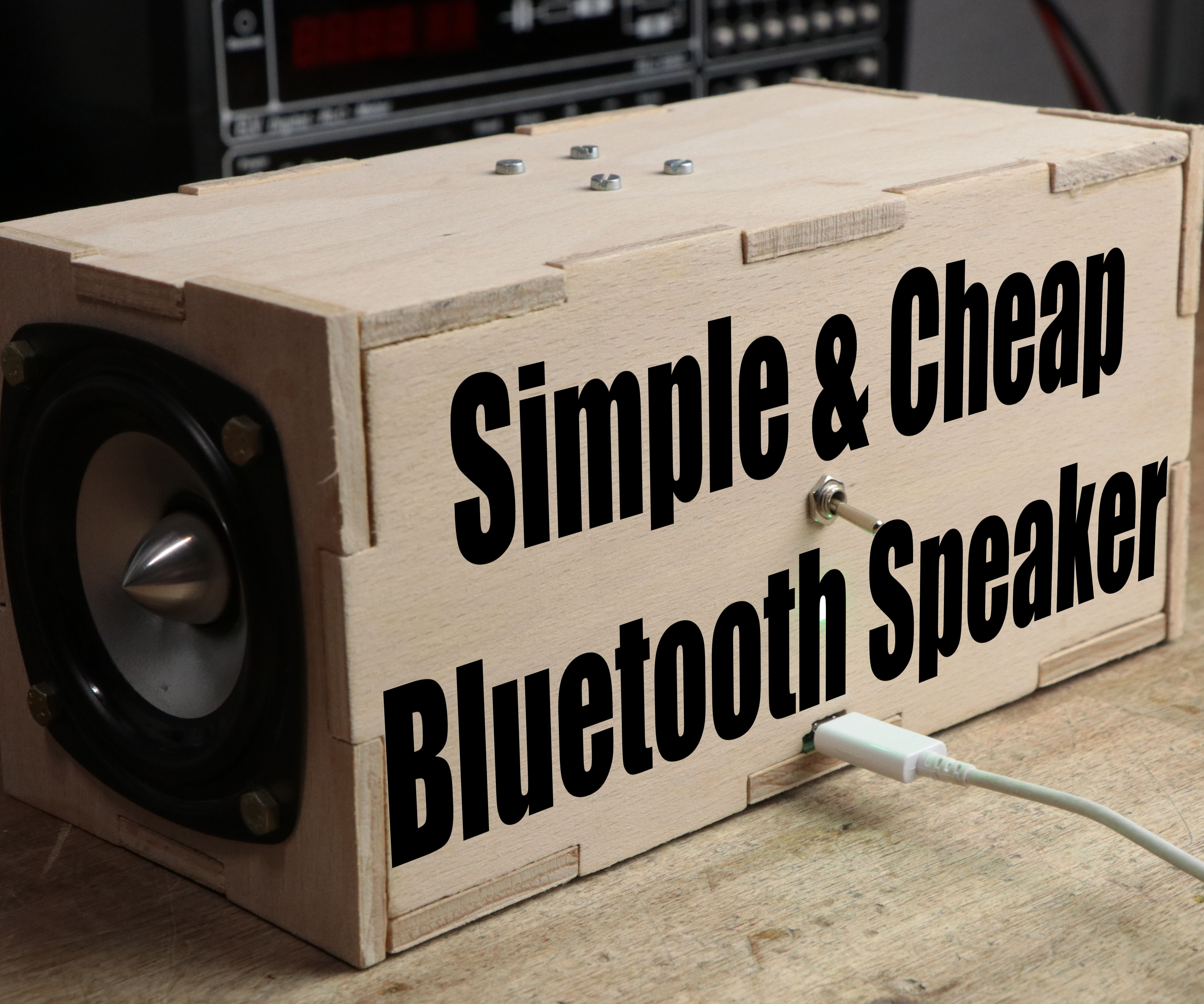 Make Your Own Simple & Cheap Portable Bluetooth Speaker
