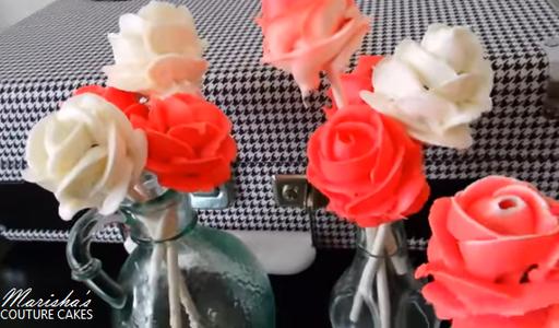 Valentine's Day Rose Cake Pops